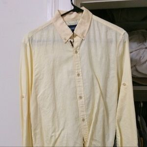 Pull and Bear button down shirt Yellow Men S